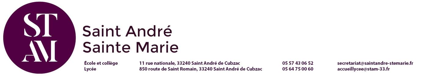 l'ensemble scolaire SAINT ANDRE - SAINTE MARIE